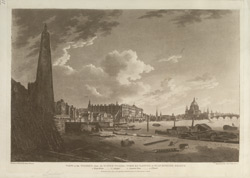 View of the Thames, from the Water Works, York buildings, to Blackfriars Bridge